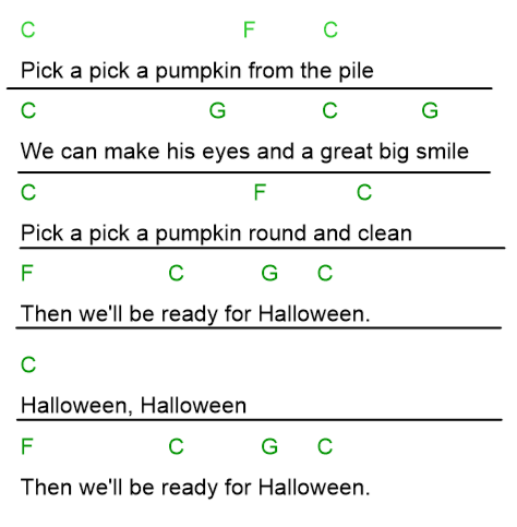 Chords For Pick A Pumpkin Music With Mrs Muench